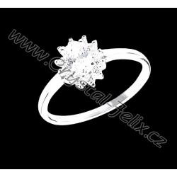 Luxusní stříbrný prsten ZIRCONIA, vel.7 (55 mm),  stříbro Ag925 RH + krabička