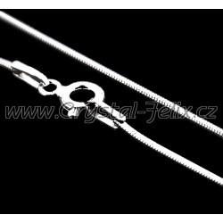 STŘÍBRNÝ RHODIOVANÝ ŘETÍZEK HÁDEK plný 0,8 mm, délky 50 cm, k našim šperkům, Ag925 + RH