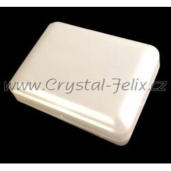 Elegantní bílá krabička  vhodná pro náušnice, pouze k našim šperkům