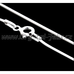 STŘÍBRNÝ ŘETÍZEK HÁDEK plný 0,8 mm, 45 cm, k našim šperkům, Ag925