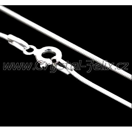 Stříbrný  řetízek HÁDEK plný 0,8 mm, 50 cm, k našim šperkům, Ag925