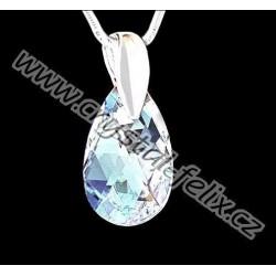 ŘETÍZEK + KVALITNÍ STŘÍBRNÝ NÁHRDELNÍK M zdobený krystalem SWAROVSKI Moonlight LIMITOVANÁ EDICE, Ag925