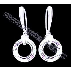 STŘÍBRNÉ NÁUŠNICE JM s krystaly SWAROVSKI RING kroužky čiré Crystal CAL, stříbro Ag925