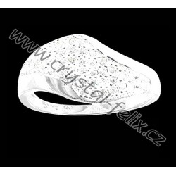 STŘÍBRNÝ PRSTEN JM osazen krystalky ZIRCONIA v čiré barvě,  stříbro Ag925 + krabička