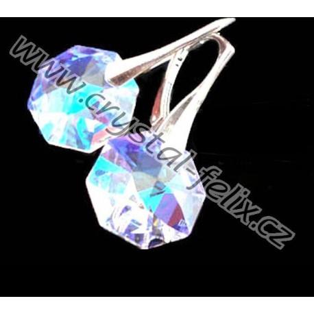 Stříbrný náhrdelník JM zdobený krystalem SWAROVSKI OCTAGON + ŘETÍZEK HÁDEK  0.8 mm 4c9b8b4569d
