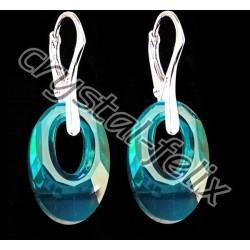 STŘÍBRNÝ ŘETÍZEK Ag925/1000 + NÁHRDELNÍK JM s krystalem SWAROVSKI HELIOS Blue Zircon, stříbro Ag925